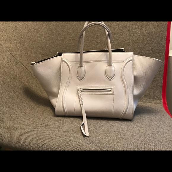 17cf57758a5a Celine Handbags - Celine White Phantom Bag