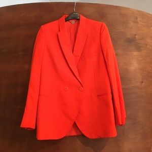 Orange red Stella McCartney blazer jacket