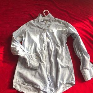 Free W/ purchase Aerie blue&white button dwn shirt
