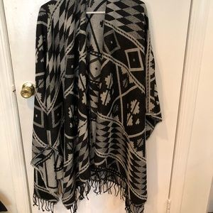 Navajo patterned poncho