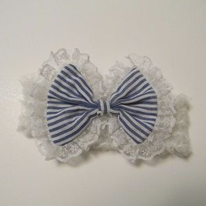 Other - Handmade Girls Lacy Headband With Bow