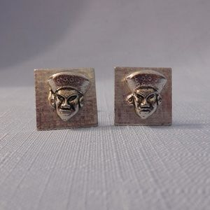 Gentry Very Cool Vintage Cuff Links Pharaohs