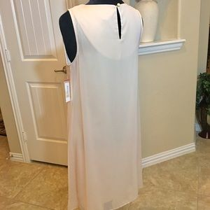 Dress Barn Dresses - Beautiful Beige Sleeveless Dress NWT