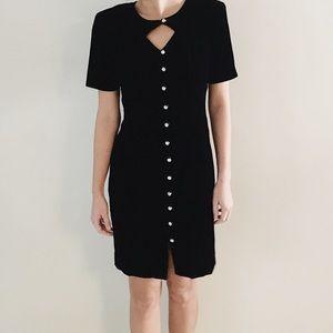 Dresses & Skirts - vintage black velvet dress