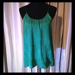 Tucker Green 100% Silk Spaghetti Strap Cami Top