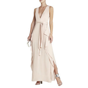 NWOT BCBG MAXAZRIA Bare Pink Suzanne Gown Size 2