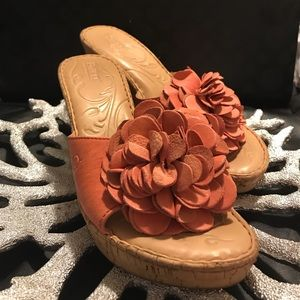Peach Flower Born Wedges