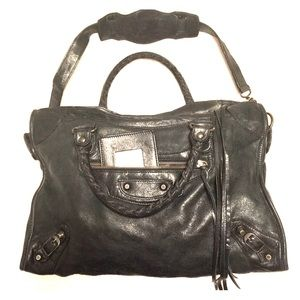 Auth. Balenciaga Lamb Classic City Handbag