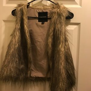 Maurices faux fur vest
