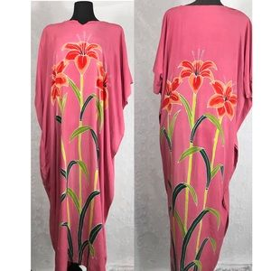 Vintage MuMu Floral Pink Maxi Dress