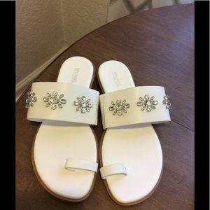 Michael Kors - Sonya Embellished Leather Sandal
