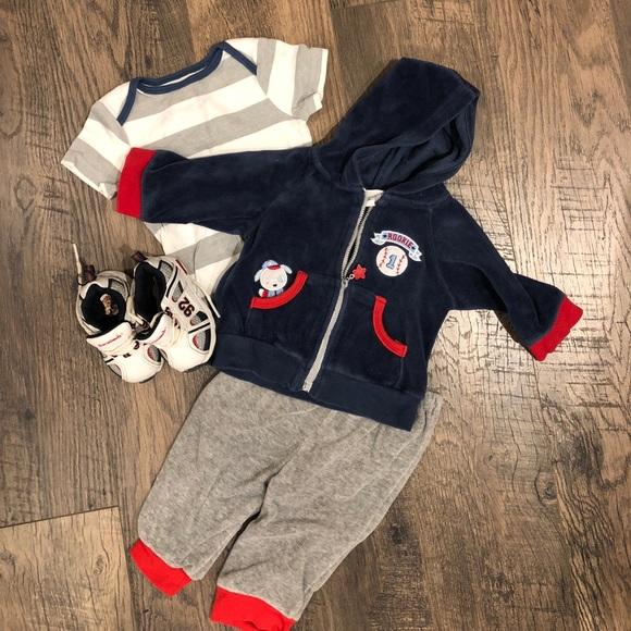7909b866abf Bon Bebe Matching Sets | 4 Pc Velour Baby Boy Outfit | Poshmark