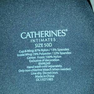 98b46393b3f01 Catherines Intimates   Sleepwear - Sexy black bra with metallic gold dots-  Size 50D