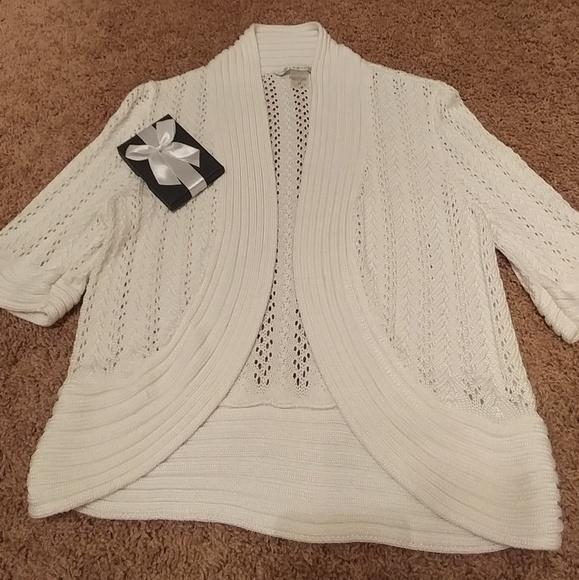 Peter Nygard Sweaters Dressy White Shrug Poshmark
