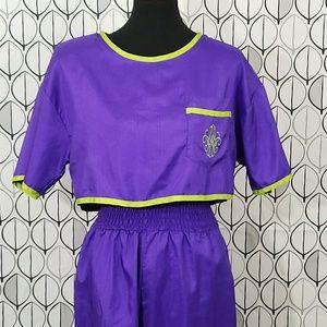 80's Glam Rock Retro Purple Jumpsuit Joan Walters