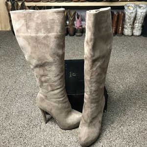 Shoes - Taupe High Heel Boots