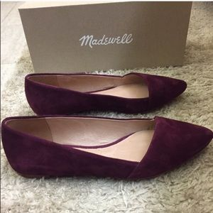 Madewell Mira Suede Flat - Plum Wine