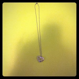 Jewelry - Sterling silver chain with pearl heart