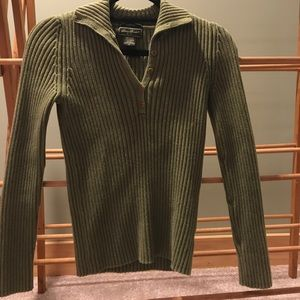 Eddie Bauer V-Neck Button Up Sweater (Size Xs)