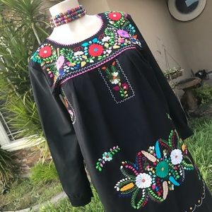 Cielito Lindo Dresses - Mexican Traditional Embroidered Dress Long Sleeves
