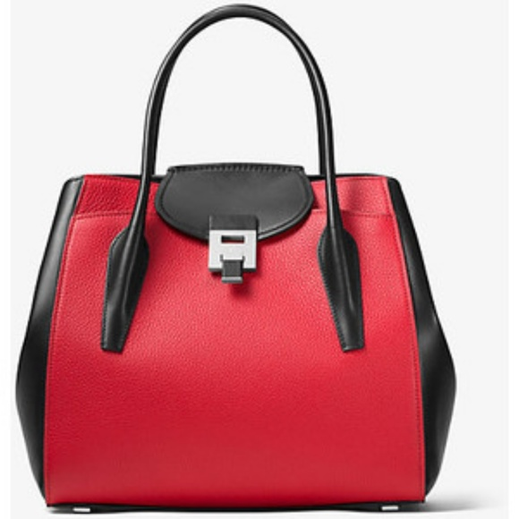 56a6fc8d38fd Michael Kors Collection Bags | Michael Kors Medium Crimson Bancroft ...