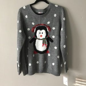 NEW! Adorable Christmas Penguin Sweater