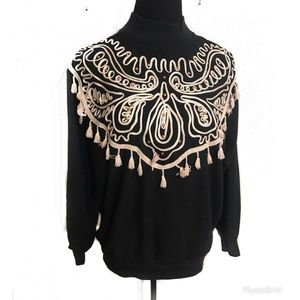 Vintage 80's blouse with tassels