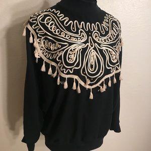 Vintage Tops - Vintage 80's blouse with tassels