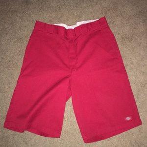 Men's dickies shorts. Red