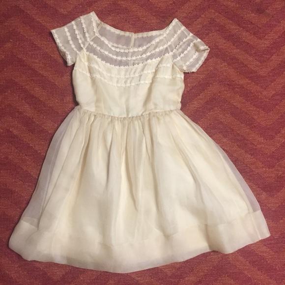 Orla Kiely Dresses - Orla Kiely organza boatneck dress BHLDN 6