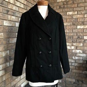 Merona Wool Pea Coat Wm XXL