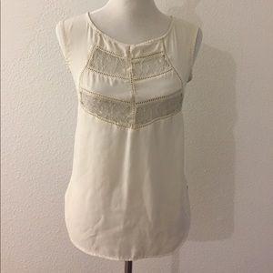 Socialite cream lacey blouse