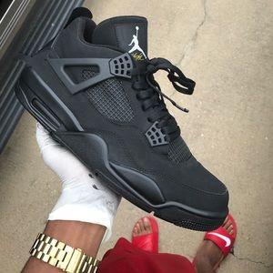 afc9abf3aa2902 Shoes - Custom Matte Black Retro Air Jordan 4s
