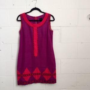 Anna Sui Shift Dress. Mod Purple Mini Dress