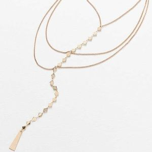 Bnwt urban outfitters Diamond layered necklace