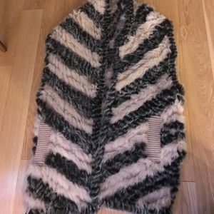 Marc by Marc Jacobs knitted fur vest