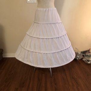 Dresses & Skirts - Hoop skirt one size bridal white