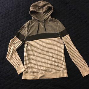 Black, grey, stripes COMFY sweatshirt