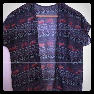 Elephant Boho print kimono for girls Size large