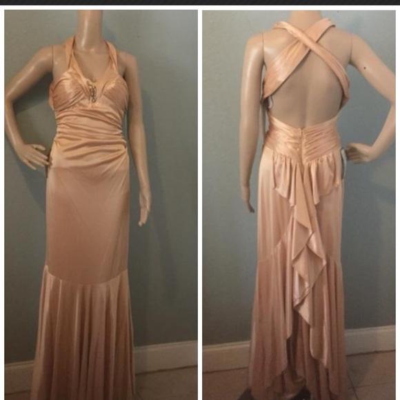 Morgan Co Gold Rose Evening Gown Prom Wedding | Poshmark