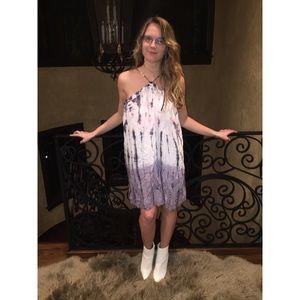 Beautiful Hippie Tie-Dye Flowy Dress
