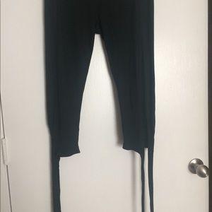 e254c5c5889fd2 yado Pants   Lace Up Leggings Black   Poshmark