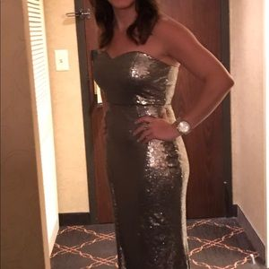 Sparkly long mermaid sequins dress