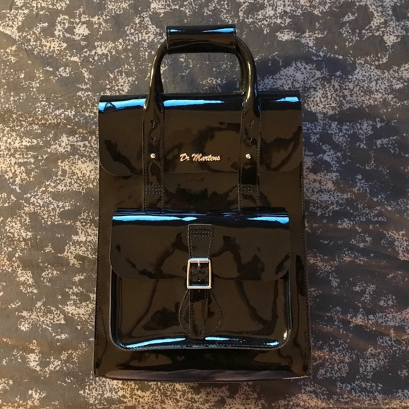74392533a7 Dr. Martens Handbags - Dr. Martens Black Patent leather backpack