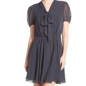 Betsey Johnson womens Mini Dot Tie neck Dress