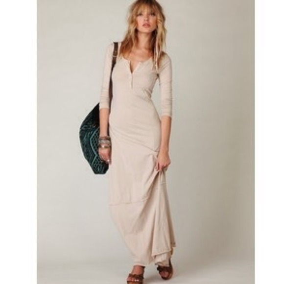 04d90790429 Free People Dresses   Skirts - Free People Henley Maxi Dress