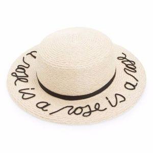Eugenia Kim 'Brigitte' hemp and cotton boater hat