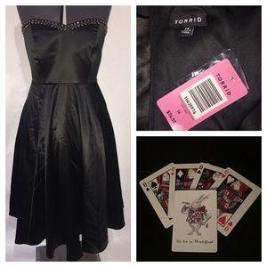 NWT Torrid LBD Studded Satin Dress Sz 14 Gown