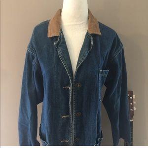Vintage Lee Jean Jacket with Corduroy Collar
