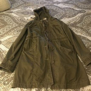 Tulle feminine trench coat